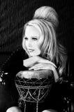 женщина knit барабанчика платья Стоковая Фотография