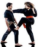 Женщина Kung Fu Pencak Silat изолировала Стоковая Фотография