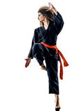 Женщина Kung Fu Pencak Silat изолировала Стоковое Фото