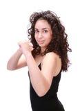 женщина latina бокса стоковая фотография