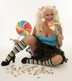 Женщина Lollipop Стоковые Изображения