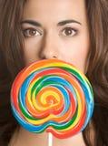 женщина lollipop стоковые изображения rf