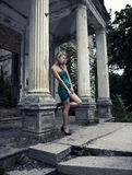 женщина lond Стоковое Изображение RF
