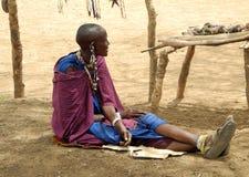 Женщина Masai Стоковые Изображения RF