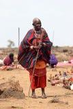женщина masai Стоковое Изображение RF
