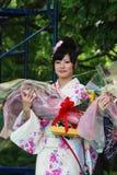 Женщина Miss Fuji на основной ступени стоковая фотография