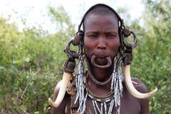 женщина mursi стоковые фотографии rf