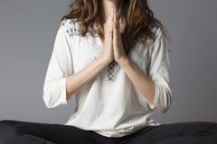Женщина Namaste Стоковая Фотография RF