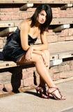 женщина outdoors платья официально Стоковое фото RF