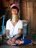 Женщина Padaung - Myanmar Стоковое Изображение