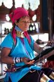 женщина padaung myanmar Стоковые Изображения RF