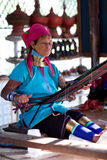 женщина padaung myanmar Стоковая Фотография