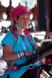 женщина padaung myanmar Стоковые Изображения