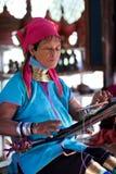 женщина padaung myanmar Стоковые Фотографии RF