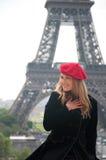 женщина paris Стоковое Изображение