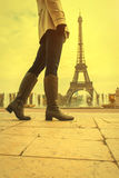 женщина paris Стоковое Фото