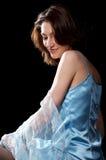 женщина peignoir Стоковые Изображения