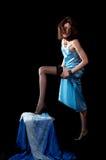 женщина peignoir Стоковое фото RF