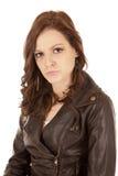 женщина pout стороны выражения стоковые изображения rf