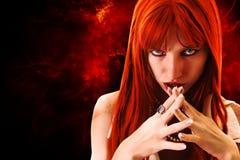 женщина redhead Стоковая Фотография
