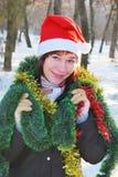 женщина santa claus Стоковое фото RF