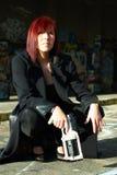 женщина sc пушки fi Стоковое Фото