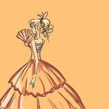 Женщина Scribble иллюстрация штока
