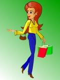 женщина shoppig Иллюстрация вектора