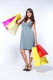 женщина shoppingbag Стоковое Изображение RF