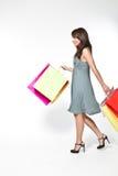 женщина shoppingbag Стоковые Изображения RF