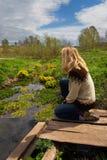 женщина sibir тоскливости Стоковая Фотография