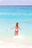 женщина snorkel Стоковое фото RF