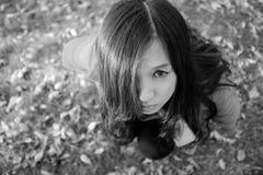 Женщина squating Стоковая Фотография RF