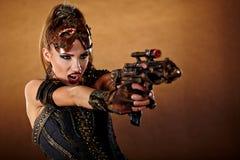 Женщина Steampunk Мода фантазии Стоковые Фото