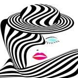 женщина striped обмундированием Стоковое Изображение RF