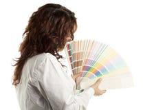 женщина swatch цвета Стоковая Фотография RF