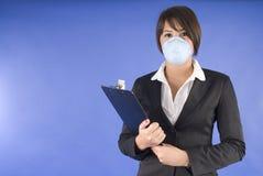 женщина swine исполнительной маски гриппа защитная Стоковые Изображения