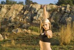 женщина tai парка kung fu хиа стоковая фотография