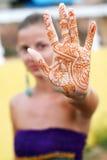 женщина tattoo Стоковая Фотография