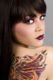 женщина tattoo Стоковое Изображение RF