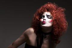 женщина theatrical mime состава стоковая фотография