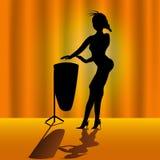женщина timpani Стоковая Фотография RF