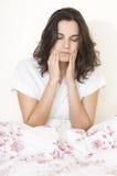 женщина toothache стоковое изображение