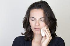 женщина toothache стоковая фотография