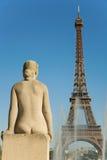женщина trocadero статуи Стоковые Изображения