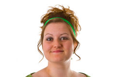 женщина updo волос Стоковые Фото