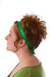 женщина updo волос Стоковые Изображения RF
