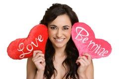 женщина valentines дня Стоковые Изображения