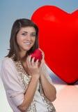 женщина valentines сердца дня Стоковые Фото