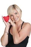 женщина valentines сердца дня Стоковая Фотография